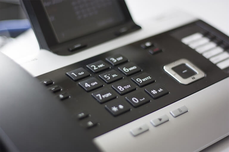 Close up of telephone numberpad